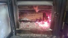 暖炉とうさぎ達