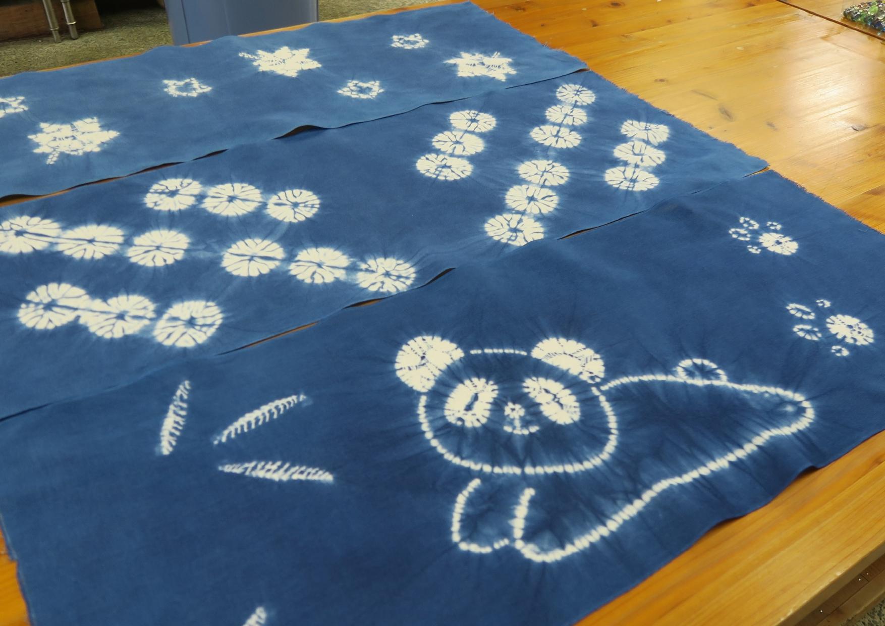暮らしの手作り講座 2021  縫い絞り藍染め