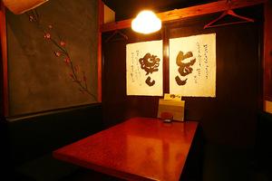 テーブルタイプの個室