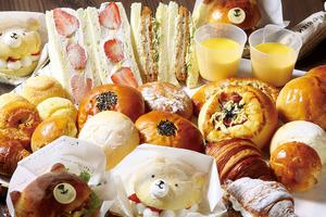 「ルパンベーカリー」の焼き立てパンは、定番から季節のパンまで種類が豊富!くまさんシリーズは、キッズに大人気!