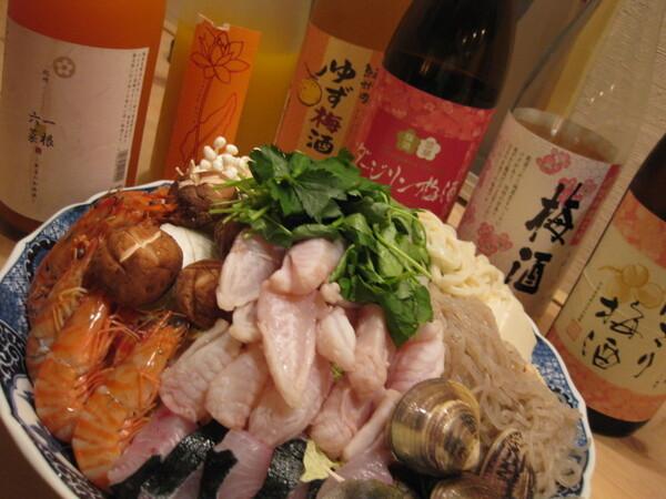 ■豪華に魚に溺れる『海鮮鍋コース』■10月~3月 飲み放題付は¥6,000