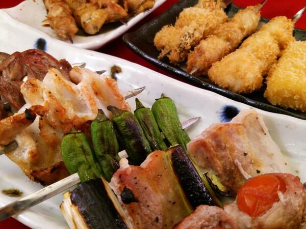 ■お父さんが作った干物が入った『串コース』■ 飲み放題付は¥5,000