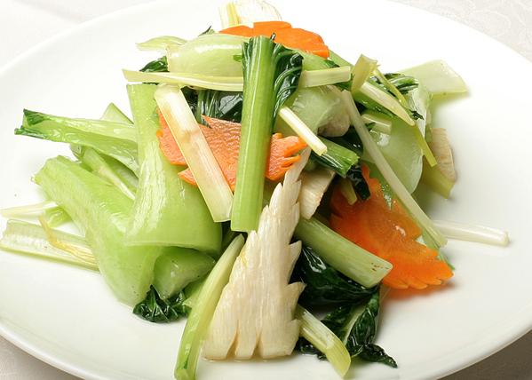 中国野菜の炒め(季節により野菜の種類は替わります)