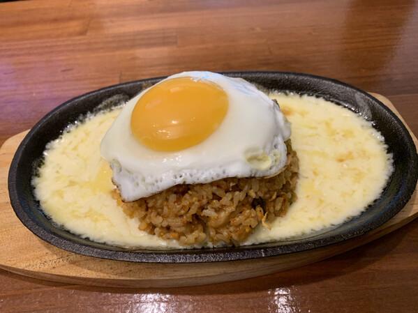 チーズ入りキムチチャーハン