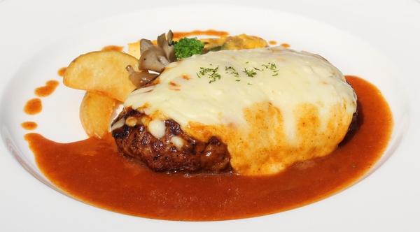●チーズ焼きハンバーグステーキ