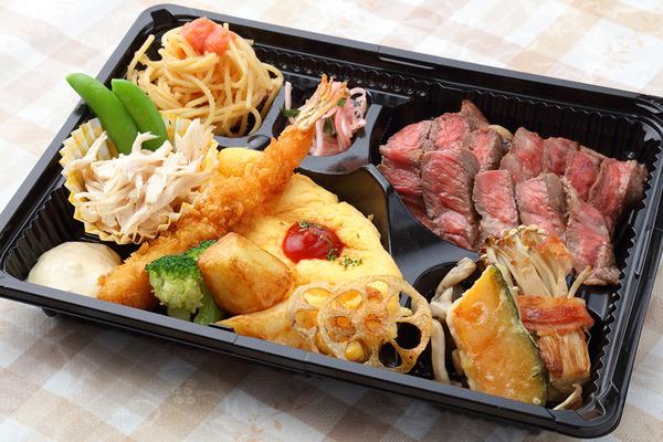 ■牛ロースステーキ弁当(おかずのみ)