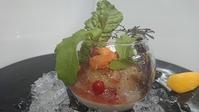 海鮮のカルパッチョ新タマネギのムース小鉢
