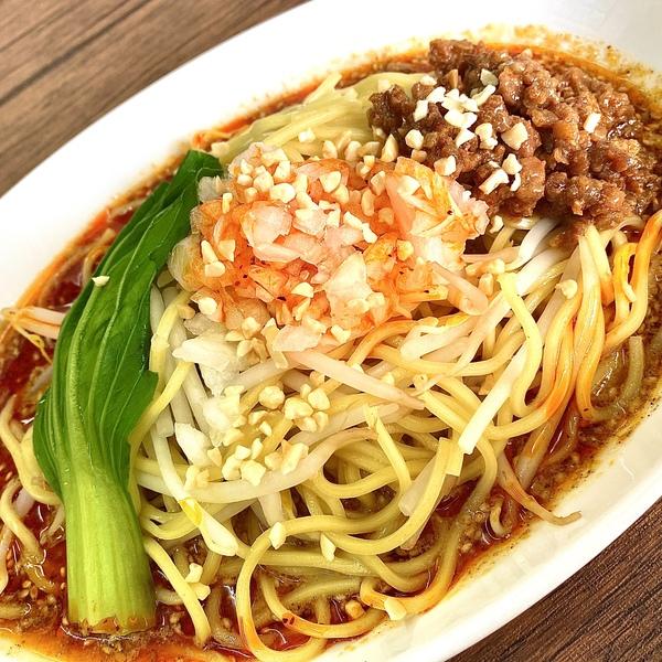 ラー油(辛味)と花椒(痺れ)のダブルパンチ! 汁なし担々麺!