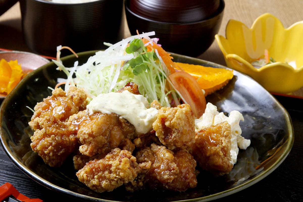 鶏唐揚南蛮定食