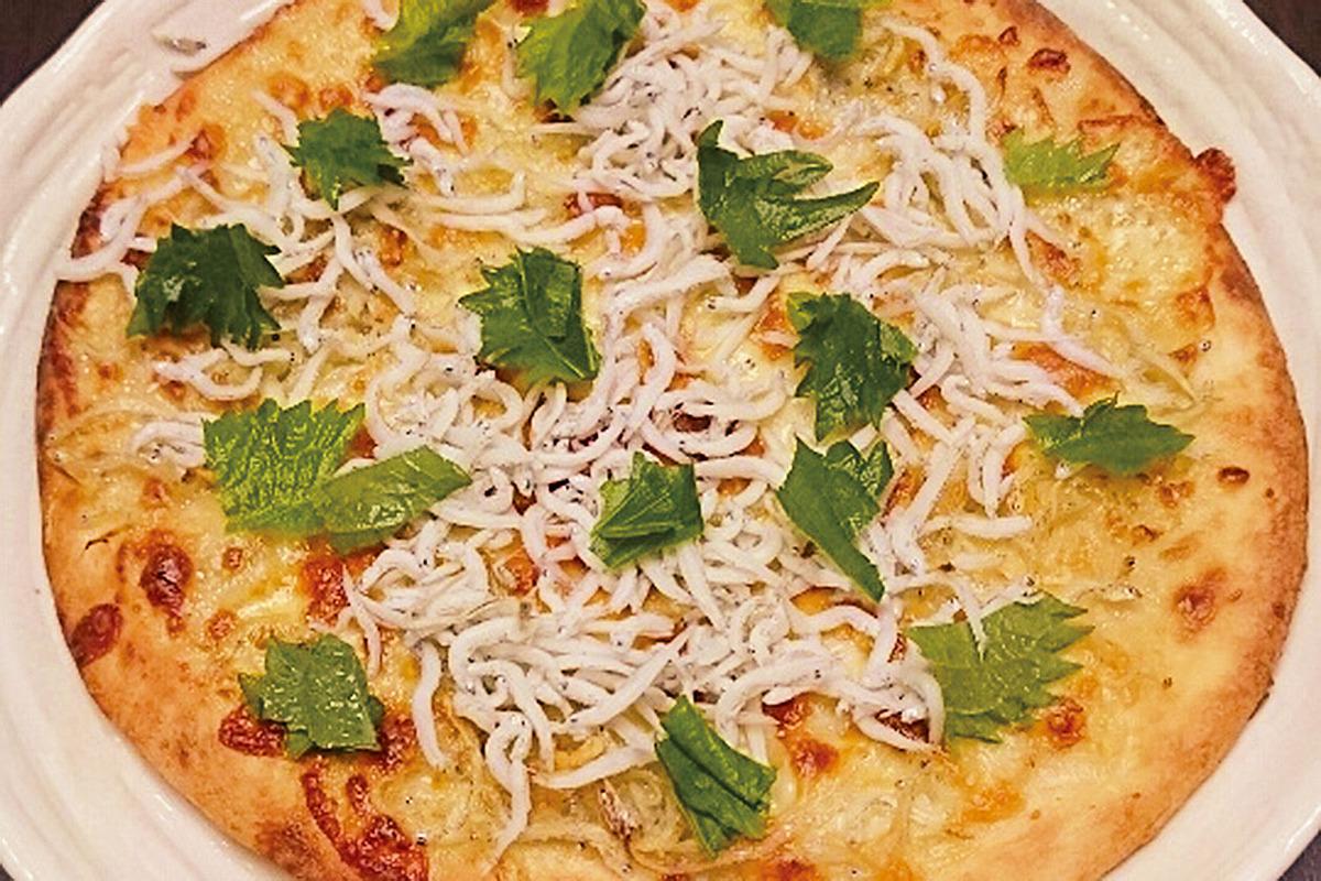 和風しらすピザ