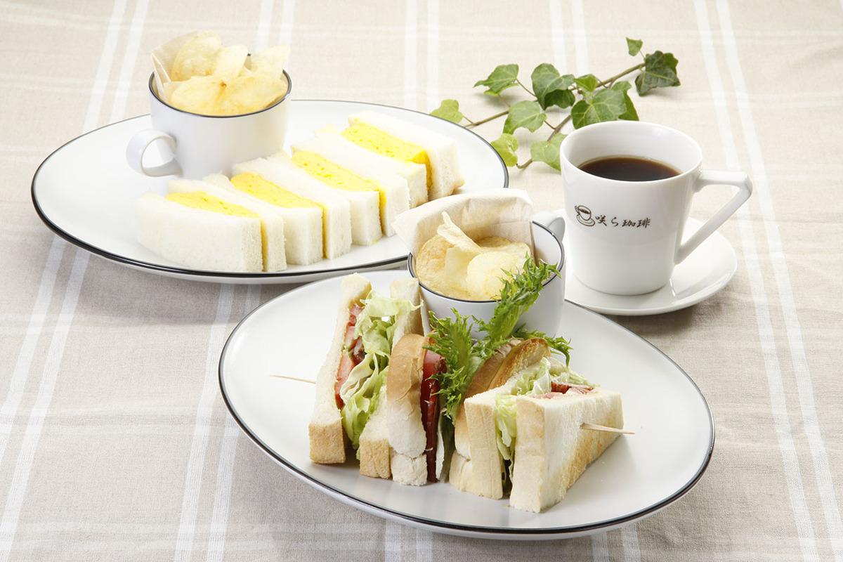 サンドイッチ(ポテトチップス付き)各種