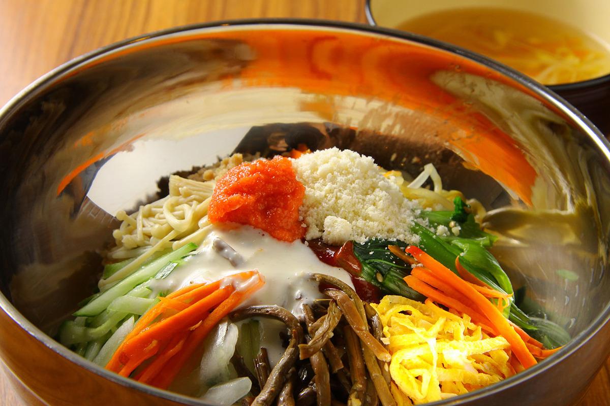 明太チーズビビンバ(スープ付き)