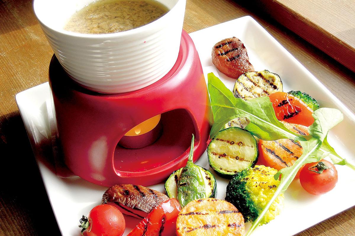 彩り焼き野菜のバーニャカウダー