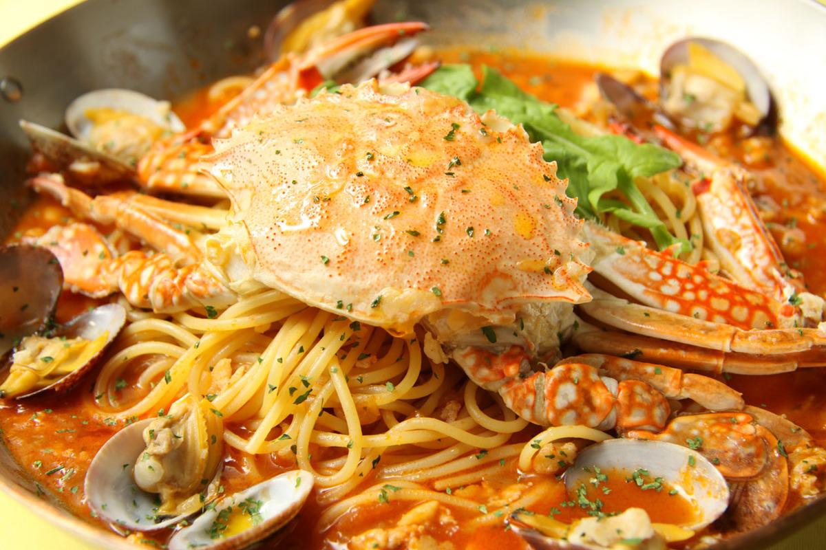 ずわい蟹のトマトクリーム