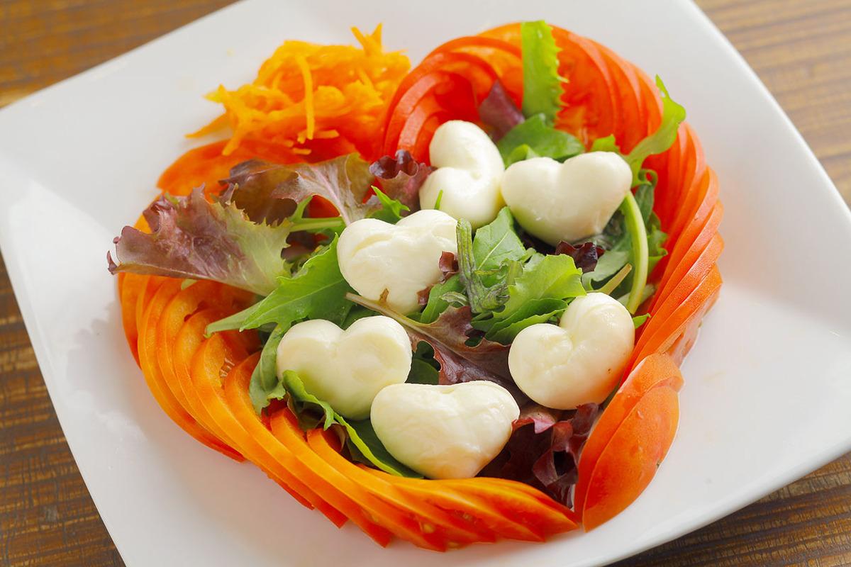 紅白ハートサラダ