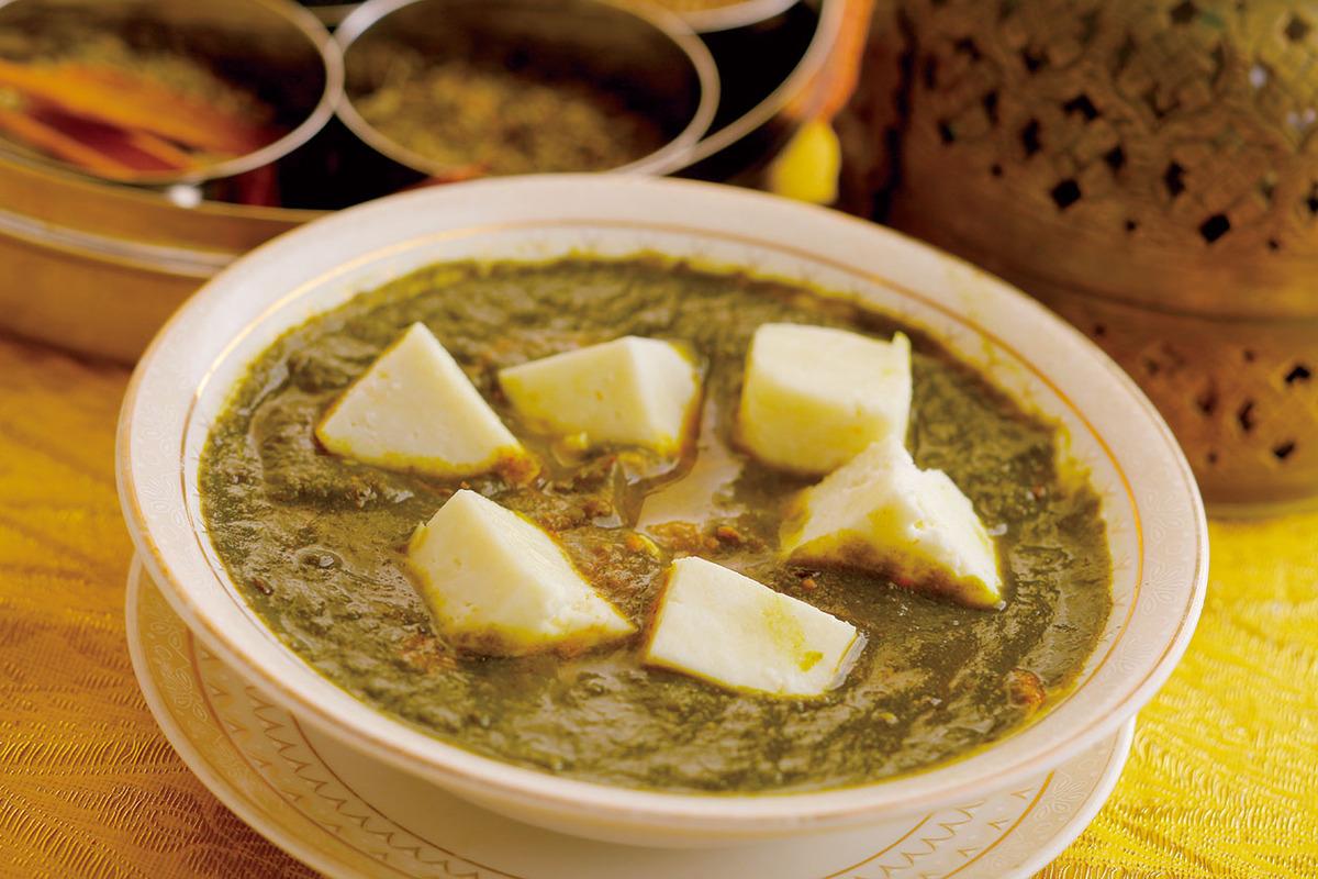 サグパニールカレー(インドチーズ)