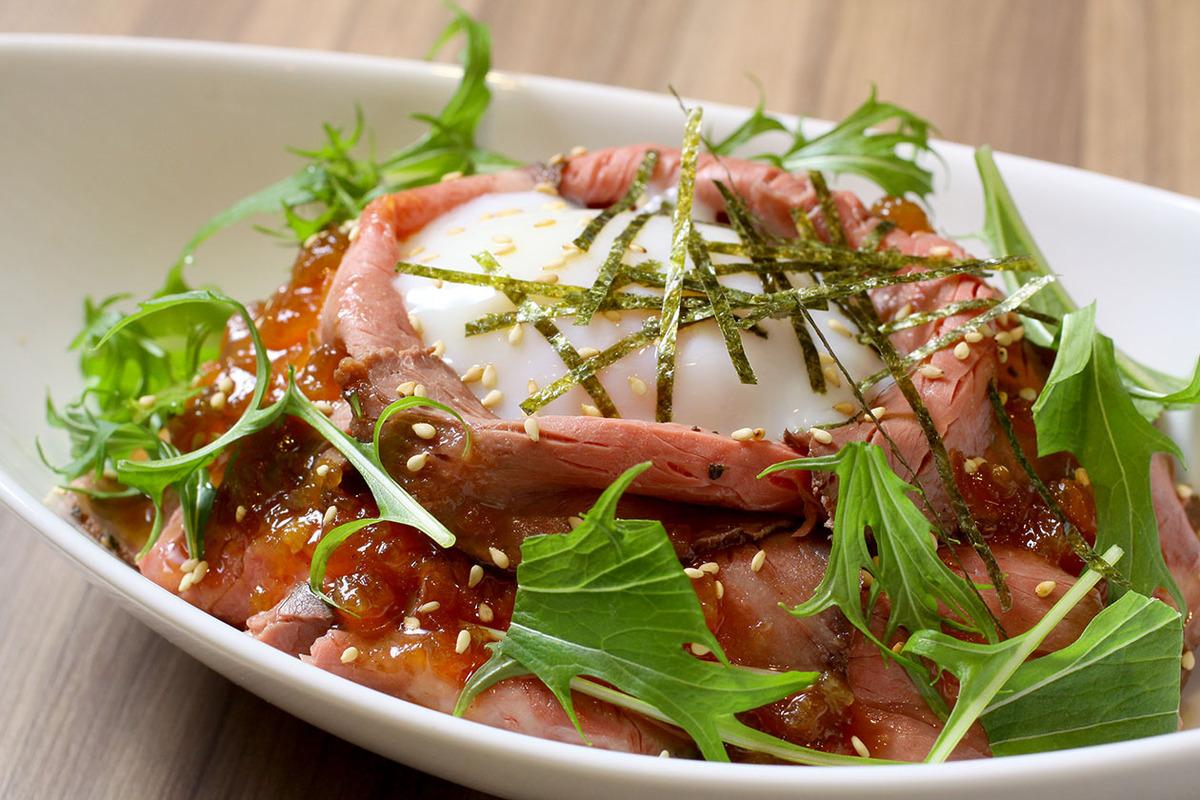 自家製ローストビーフ丼ランチ(サラダ付)