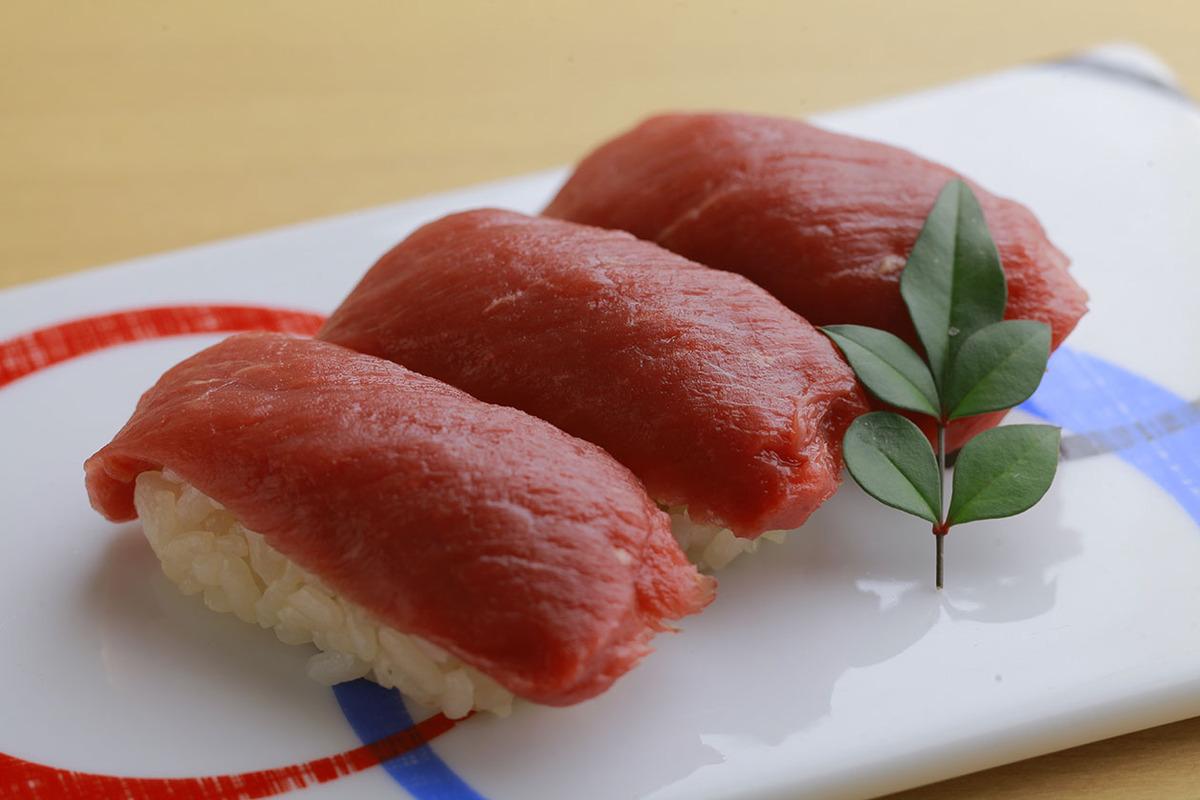 馬赤身寿司