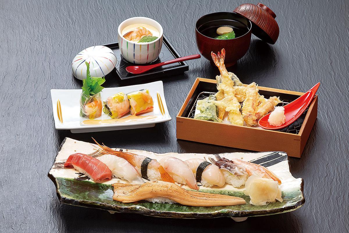 上寿司天ぷら膳