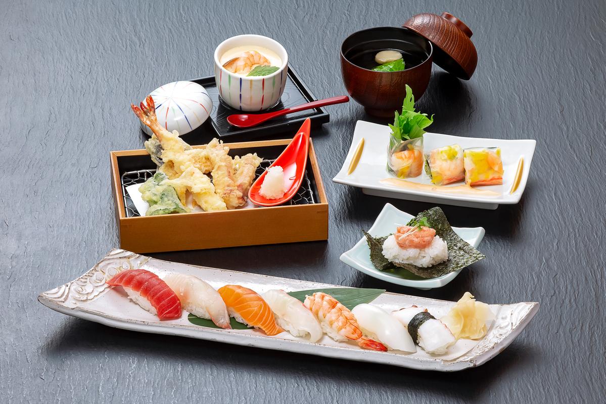 寿司天ぷら膳