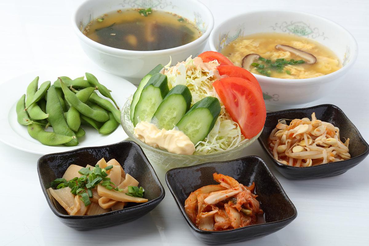 サイドメニュー、スープ各種