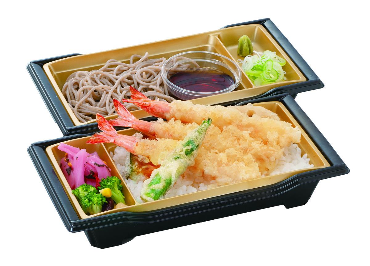 にぎわい天重麺セット