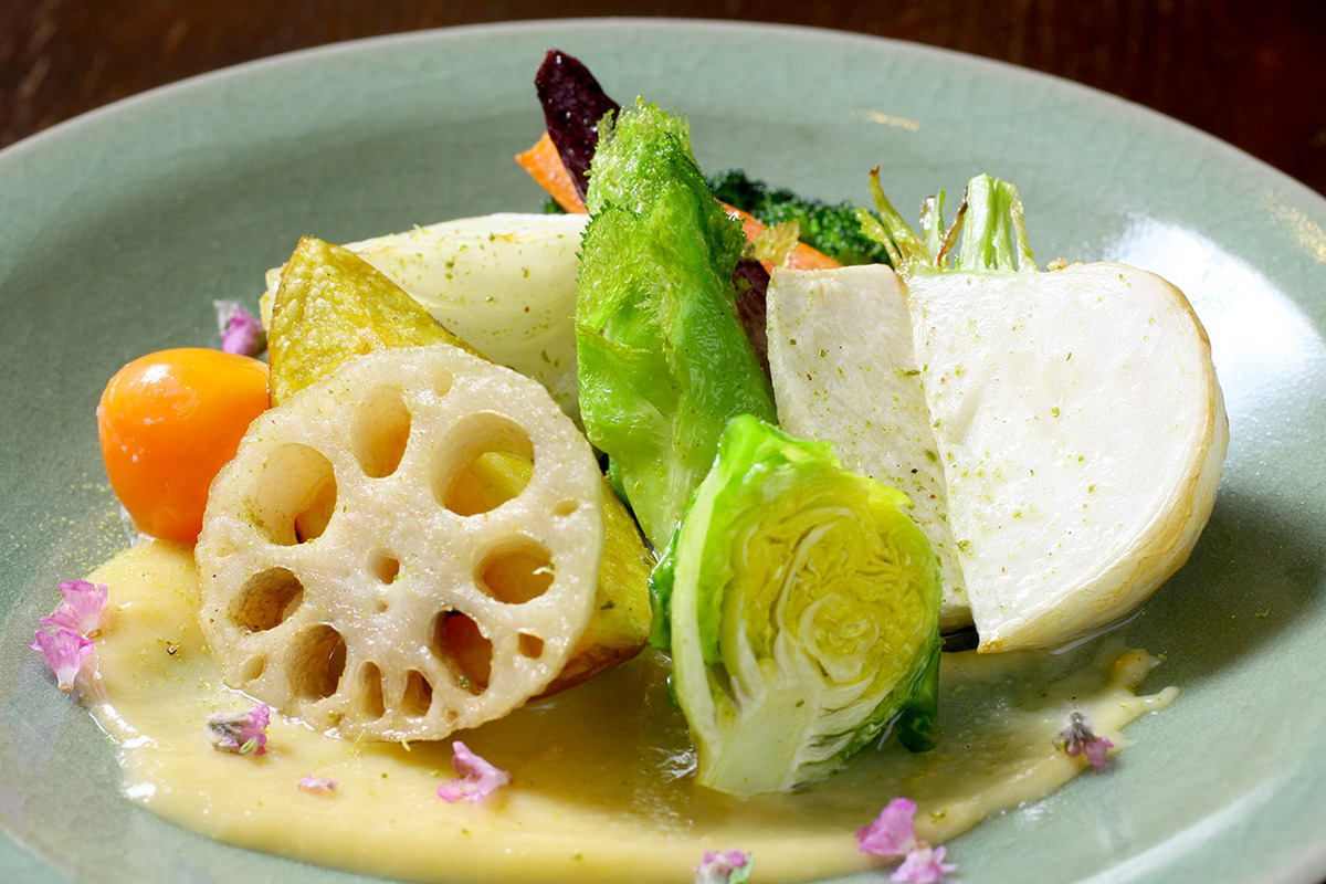 季節の野菜フリット ゆず味噌ソース