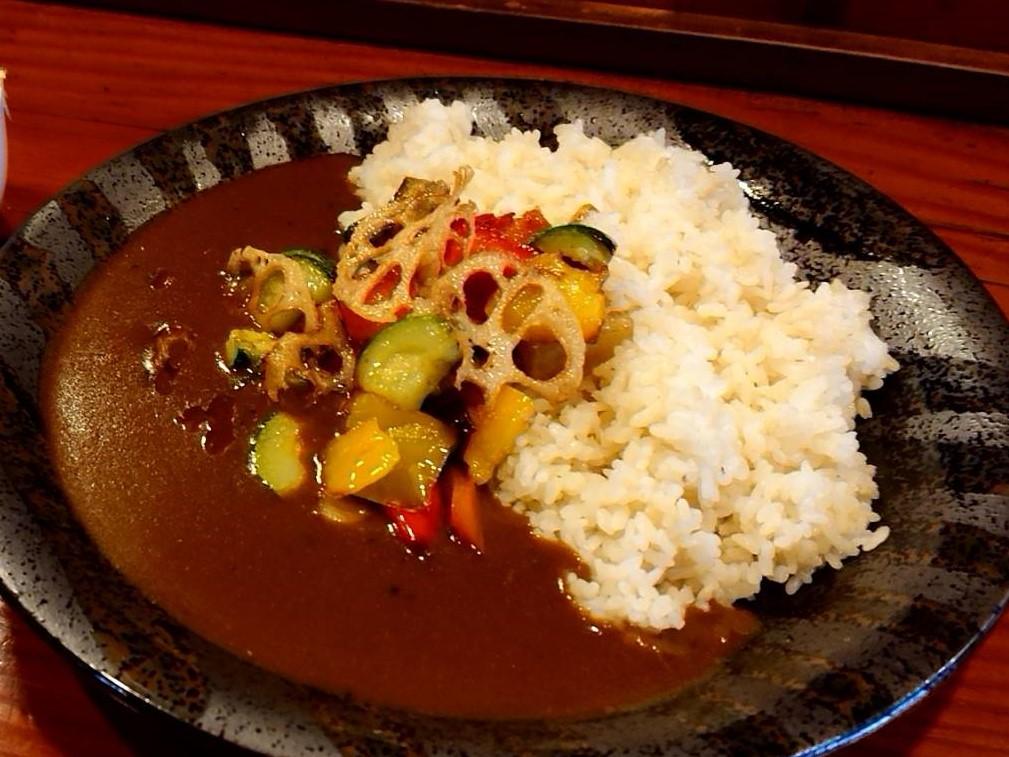 素揚げ野菜カレー