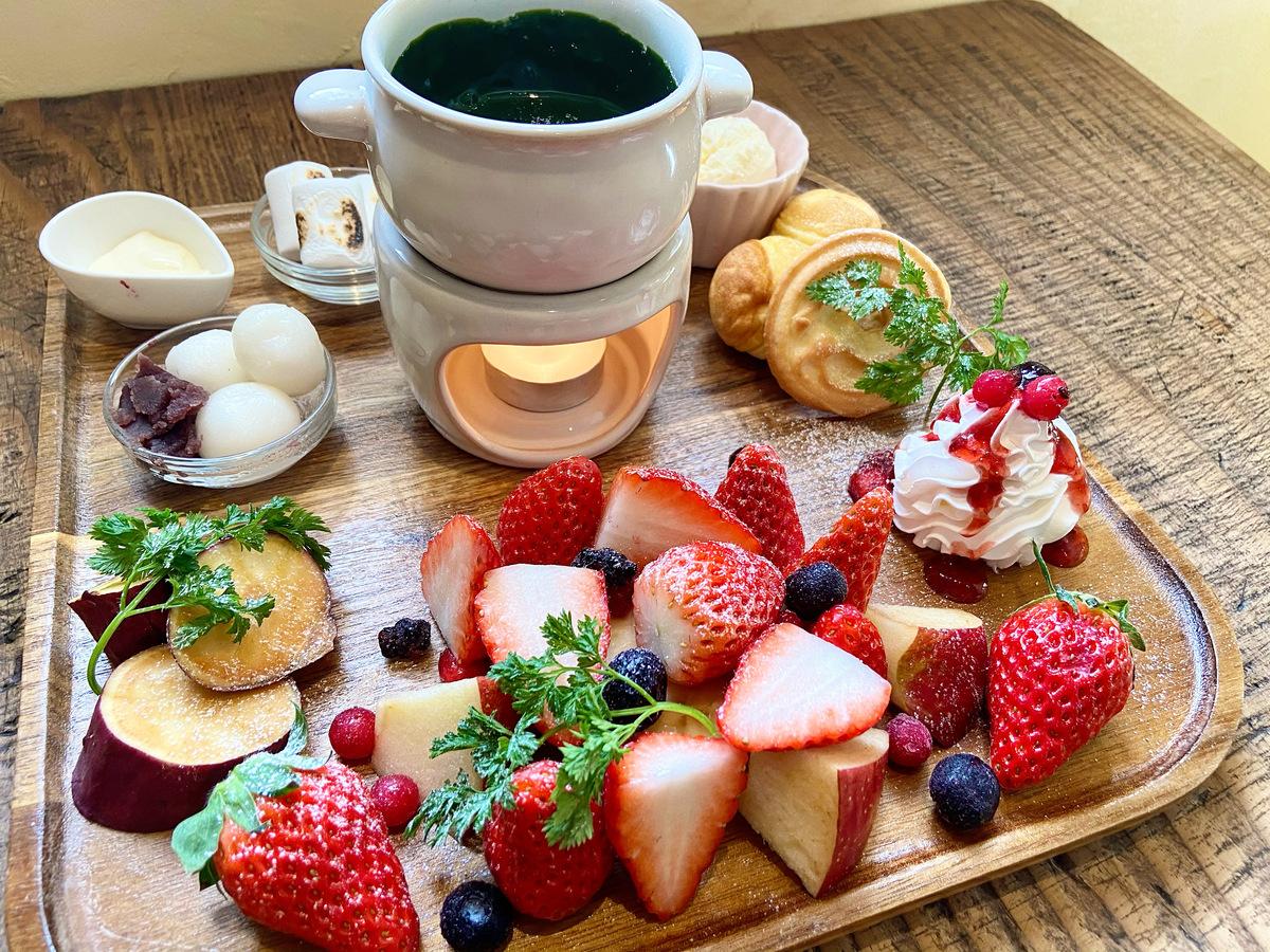 抹茶チョコフォンデュ