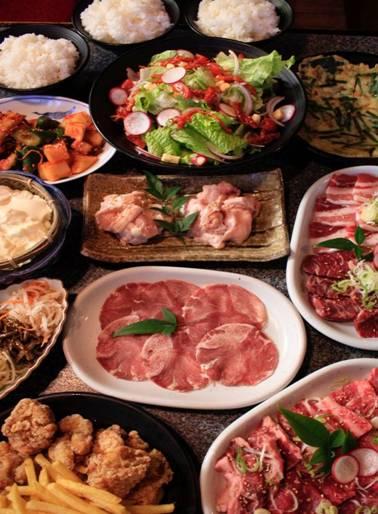 ○食べ盛りコース(本コースは2名様よりご利用いただけます)